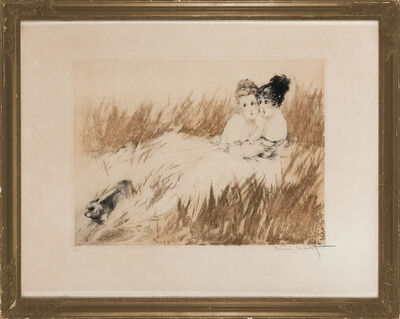 Louis Icart, 'Scared; Farewell; After The Walk (Holland/Catania/Isen 104; 305; 374)', 1920, 1927 and 1929, respectively