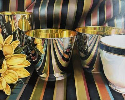 Jeanette Pasin Sloan, 'Bowl with Blue Rim', 2019
