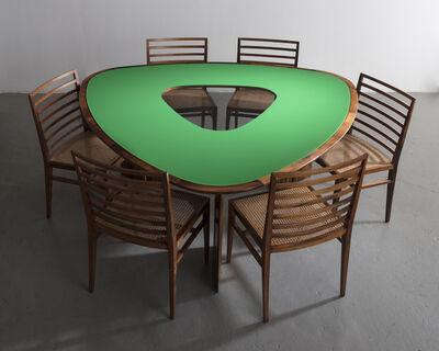 Joaquim Tenreiro, 'Iconic triangular table', 1960