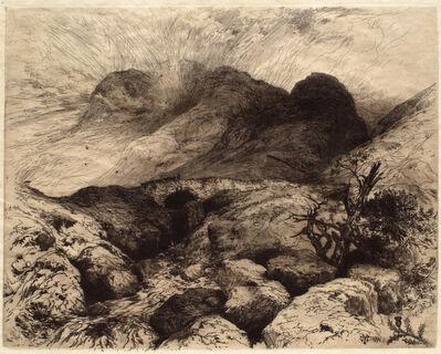 Thomas Moran, 'Bridge at the Pass of Glencoe, Scotland', 1888