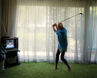 Larry Sultan, 'Practicing Golf Swing', 1986