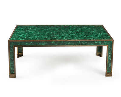 P.E. Guerin, 'A brass and malachite veneer coffee table'