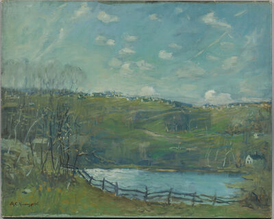 Arthur Clifton Goodwin, 'Spring Landscape with Pond'