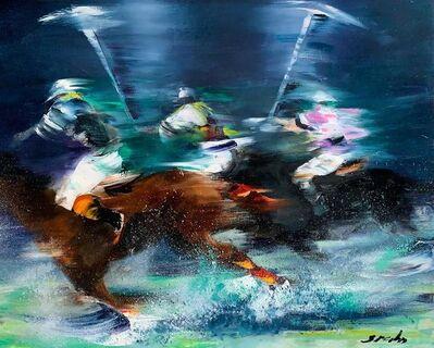 Victor Spahn, 'Joueurs de polo', 2019