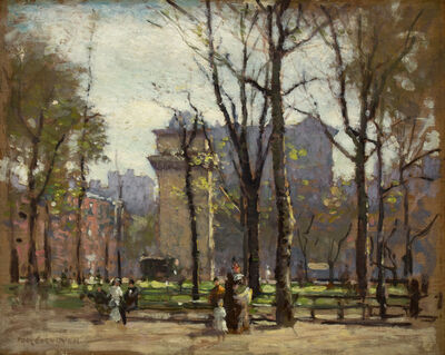 Paul Cornoyer, 'Washington Square Park', ca. 1900