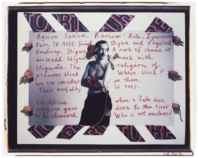 """Linda Troeller, 'Page from """"TB-AIDS Diary""""', 1989"""