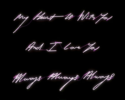 Tracey Emin, 'My Heart is With You And I Love You', 2006