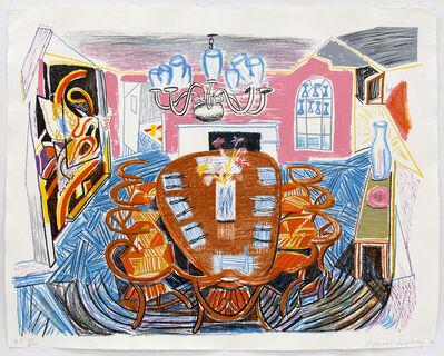 David Hockney, 'Tyler Dining Room', 1985