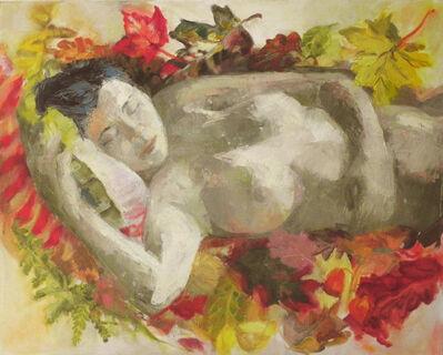 Teresa Baksa, 'Asleep in Falling Leaves', 2016
