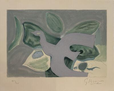 Georges Braque, 'Oiseau gris sur fond vert', 1962