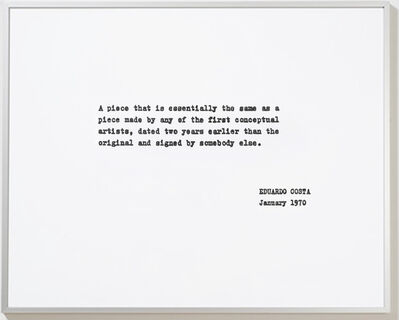 Eduardo Costa, 'A piece that is...', 1970-2008