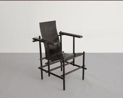 "Gerrit Thomas Rietveld, '""Billet"" High-Backed Armchair', 1924"