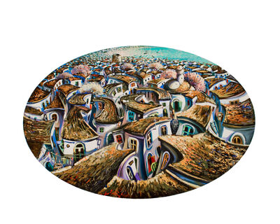Jalal Aghayev, 'Old City (oval)', 2018