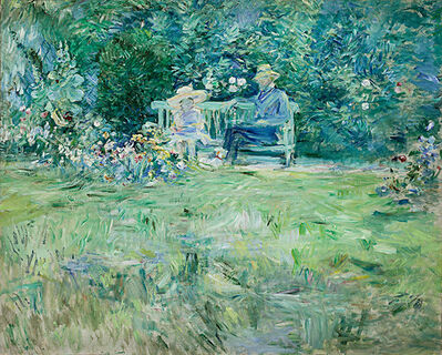 Berthe Morisot, 'The Lesson in the Garden', 1886