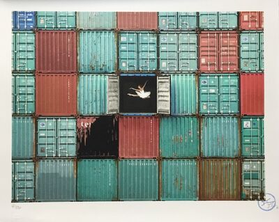 JR, 'The Ballerina Jumping in Containers, Le Havre, France, 2014', 2018