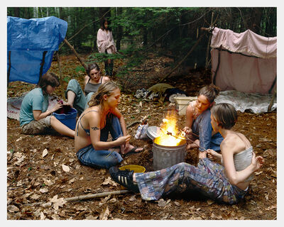 Justine Kurland, 'Puppy Love, Fire', 1999