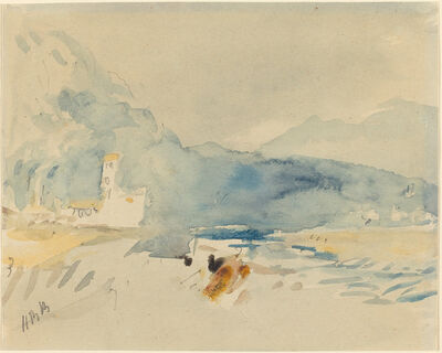 Hercules Brabazon Brabazon, 'A Landscape with Mountains and a Stream'