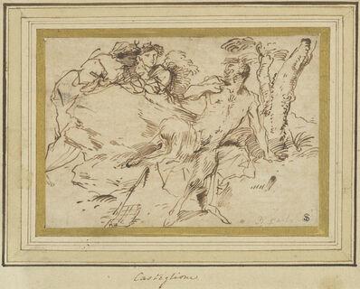 Giovanni Benedetto Castiglione, 'Two Nymphs and a Satyr', ca. 1640/1647