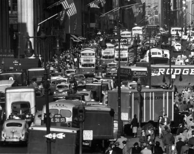 Andreas Feininger, 'Fifth Avenue looking north from 32nd St., NY', 1948
