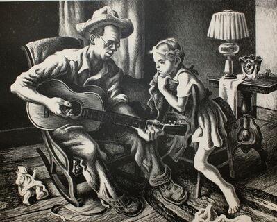 Thomas Hart Benton, 'The Music Lesson', 1943