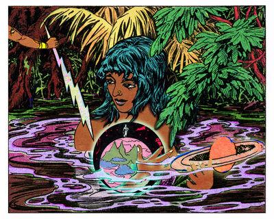 Chitra Ganesh, 'Girl, Water, Globe', 2016
