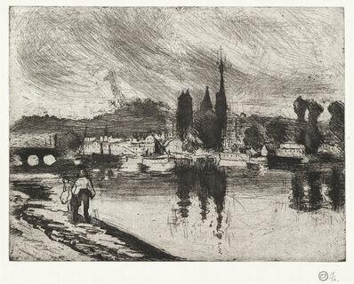 Camille Pissarro, 'Vue de Rouen (Cours la Reine)', 1884