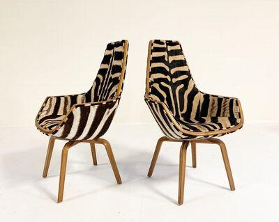 Arne Jacobsen, 'Rare Giraffe Chairs Restored in Zebra Hide', ca. 1950s