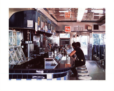 Ralph Goings, 'Blue Diner', 1995