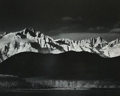 Ansel Adams, 'Winter Sunrise, Sierra Nevada, from Lone Pine, CA', 1944