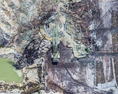 Bernhard Lang, 'Aerial Views, Phosphate Mining 02', 2014