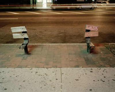 "Will Steacy, 'Bench, Queens, from ""Down these Mean Streets""', 2008"