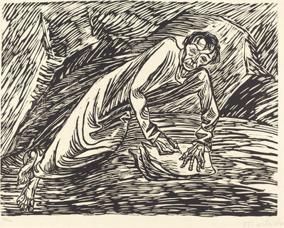 Ernst Barlach, 'The Writing Prophet (Saint John on Patmos)', 1919