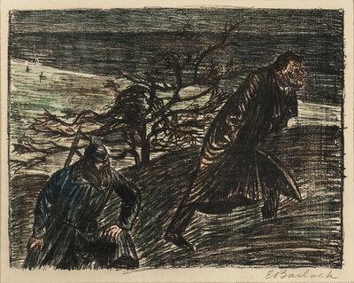 Ernst Barlach, 'Three Lithographs from Der Arme Vetter: Ungleiches Paar I, Ungleiches Paar II; Schlechtes Gewissen III', 1919