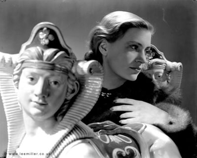 Lee Miller, 'Selfportrait  with sphinxes, Vogue Studio, London', 1940