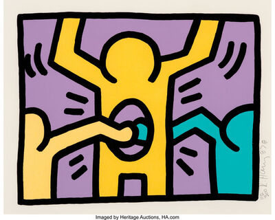 Keith Haring, 'Pop Shop I, set of four', 1987