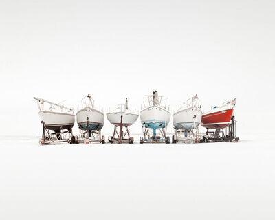 Uwe Langmann, 'Six Boats', 2019