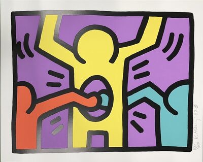 Keith Haring, 'Pop Shop I, (3)', 1987