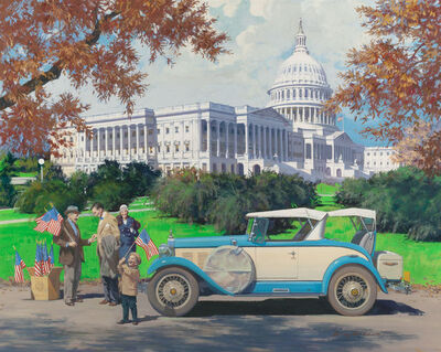 Harry Anderson, 'Washington, D.C., 1928 Falcon-Knight, Great Moments in Early American Motor'