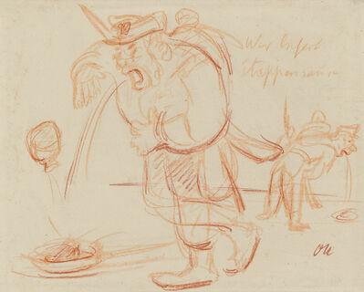 Oskar Kokoschka, 'Wer liefert Etappensäre?', Circa 1917