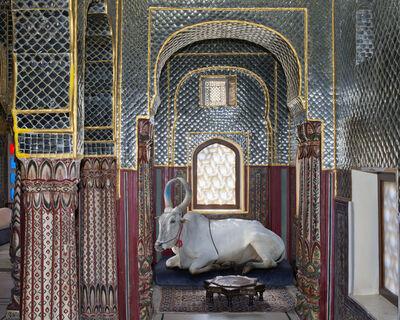 Karen Knorr, 'Shiva's Disciple Samode Haveli Jaipur'