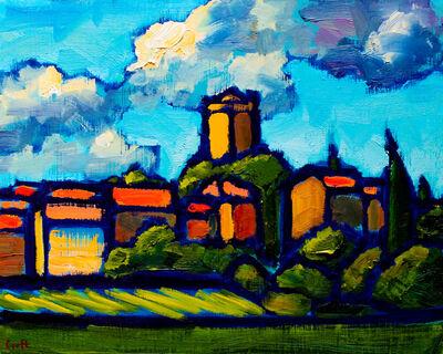 Malcolm Croft, 'Azille Church, Springtime'