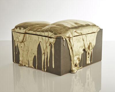 Nancy Lorenz, 'White Gold Pour Box', 2018
