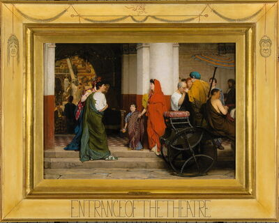 Sir Lawrence Alma-Tadema, 'Entrance of the Theatre (Entrance to a Roman Theatre)', 1866