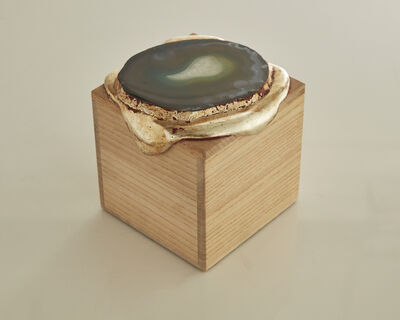 Nancy Lorenz, 'Gold Pour Box with Agate', 2014