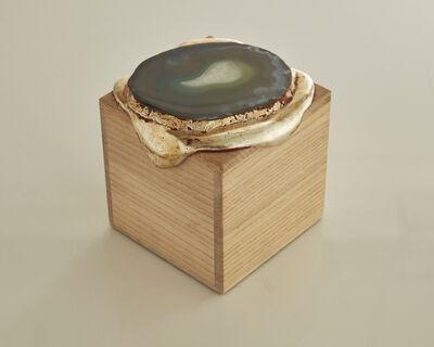 Nancy Lorenz, 'Gold Pour Box with Agate', 2014