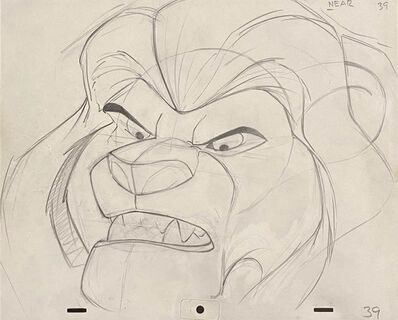 Walt Disney Studios, 'Walt Disney Production Drawing from The Lion King featuring Mufasa', 1994