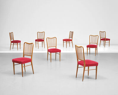 Paolo Buffa, 'Set of eight side chairs', early 1950s