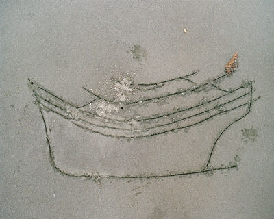 Benjamin Rasmussen, 'Noking's Sketch in the Sand of a Boat Used for Smuggling, Balabac, Phillipines'