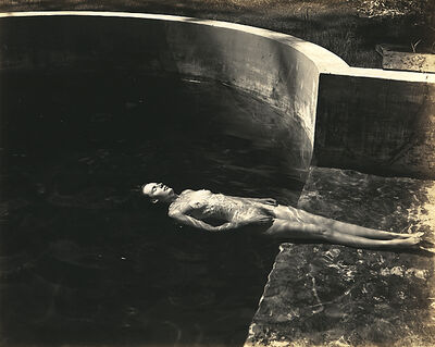Edward Weston, 'Nude Floating (Charis) (N39-C-2)', 1939-printed by Cole Weston late 1960s to early 1970s