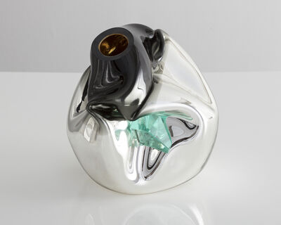 Jeff Zimmerman, 'Unique petite crumpled sculptural vessel', 2017